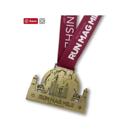 Run Mag Mile 10k Medal