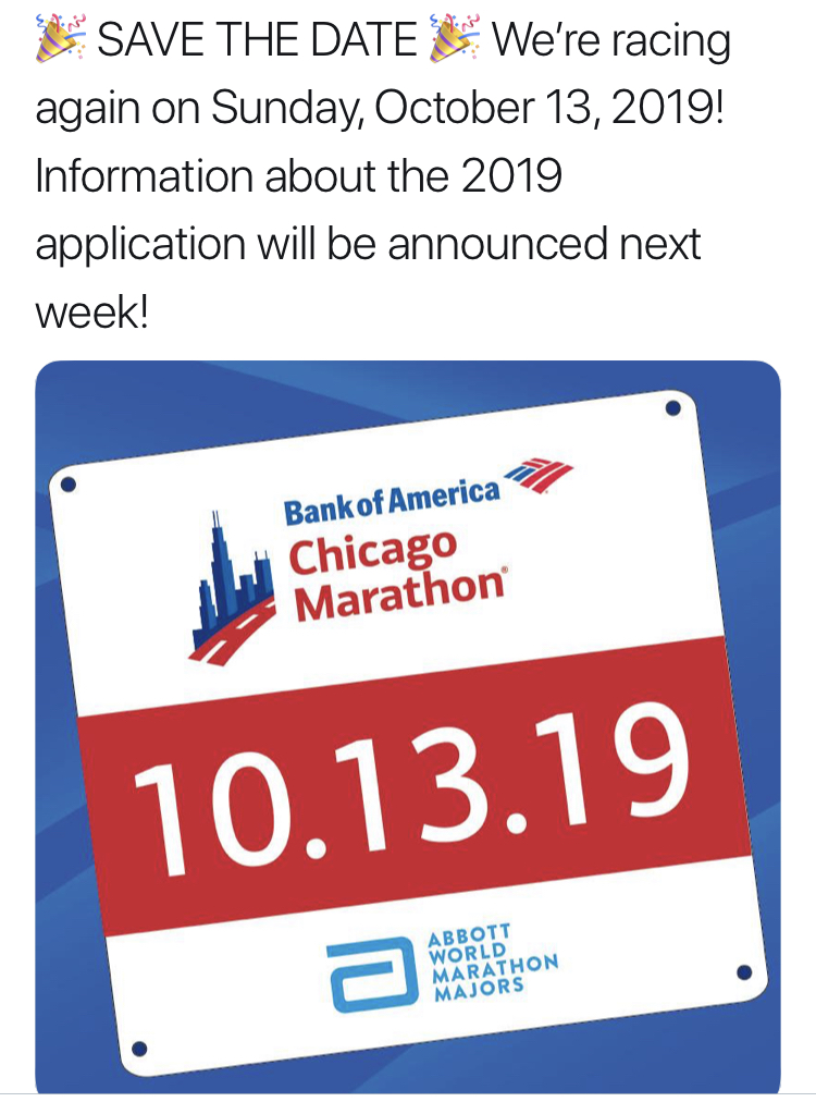 2019 Chicago Marathon Announcement