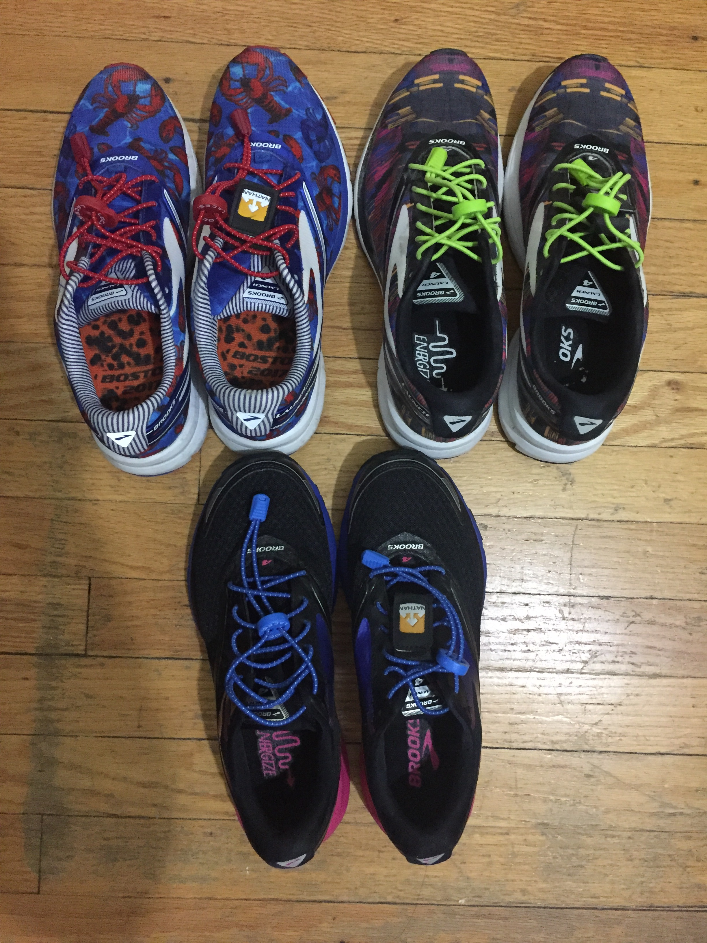 Brooks Launch 4 and Lock Laces